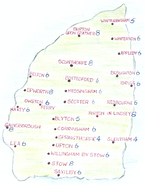 Map of West Lindsey Branch
